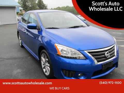 2014 Nissan Sentra for sale at Scott's Auto Wholesale LLC in Locust Grove VA