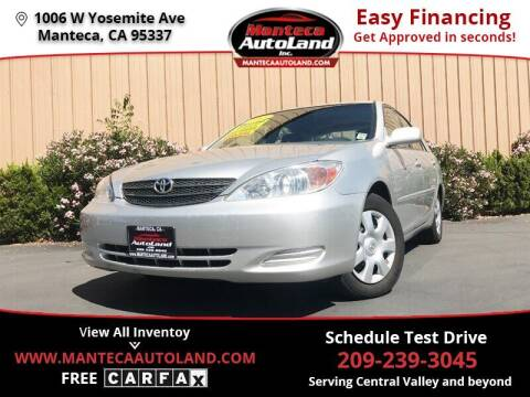 2003 Toyota Camry for sale at Manteca Auto Land in Manteca CA
