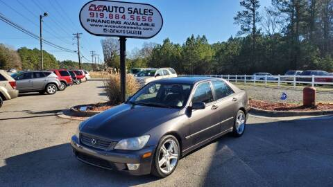 2001 Lexus IS 300 for sale at CVC AUTO SALES in Durham NC