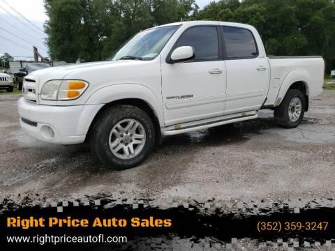 2004 Toyota Tundra for sale at Right Price Auto Sales in Waldo FL