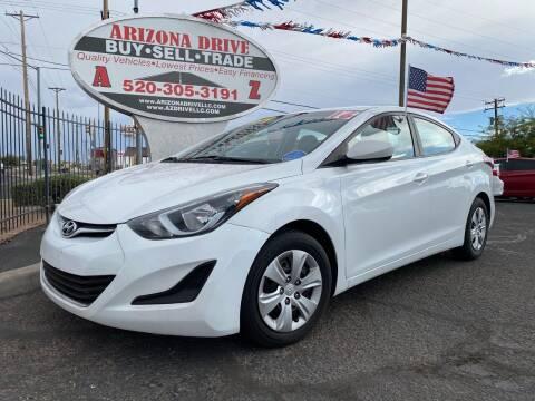 2016 Hyundai Elantra for sale at Arizona Drive LLC in Tucson AZ