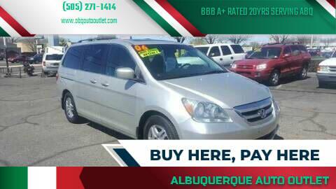 2006 Honda Odyssey for sale at ALBUQUERQUE AUTO OUTLET in Albuquerque NM