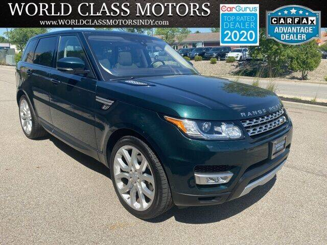 2017 Land Rover Range Rover Sport for sale at World Class Motors LLC in Noblesville IN