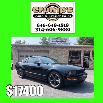 2008 Ford Mustang for sale at CRUMP'S AUTO & TRAILER SALES in Crystal City MO