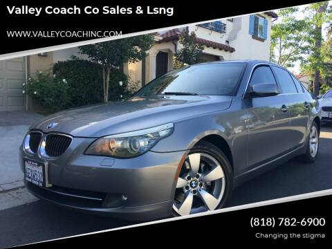 2008 BMW 5 Series for sale at Valley Coach Co Sales & Lsng in Van Nuys CA