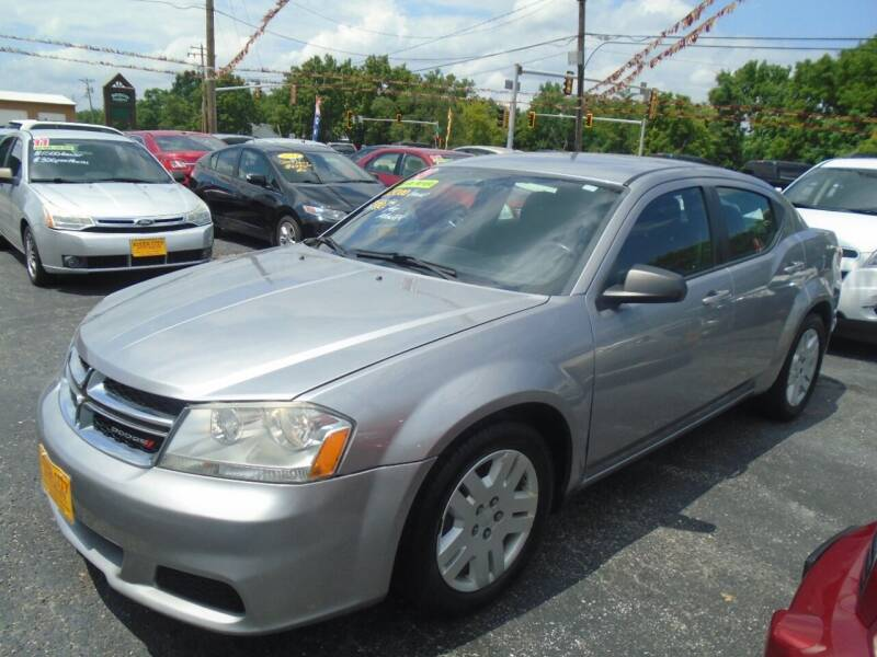 2014 Dodge Avenger for sale at River City Auto Sales in Cottage Hills IL