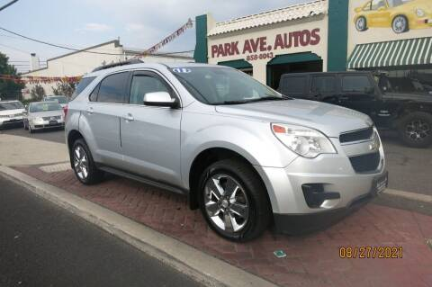 2013 Chevrolet Equinox for sale at PARK AVENUE AUTOS in Collingswood NJ