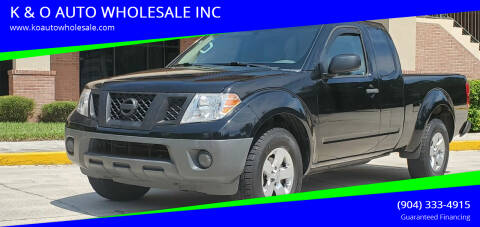 2013 Nissan Frontier for sale at K & O AUTO WHOLESALE INC in Jacksonville FL