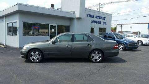 2005 Lexus LS 430 for sale at VINE STREET MOTOR CO in Urbana IL