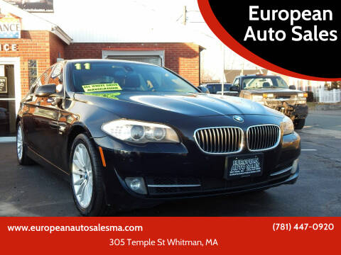 2011 BMW 5 Series for sale at European Auto Sales in Whitman MA