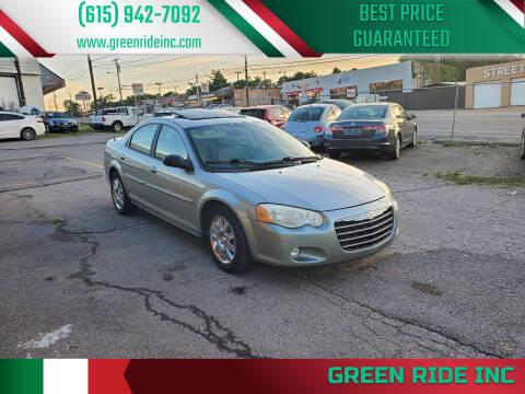 2005 Chrysler Sebring for sale at Green Ride Inc in Nashville TN