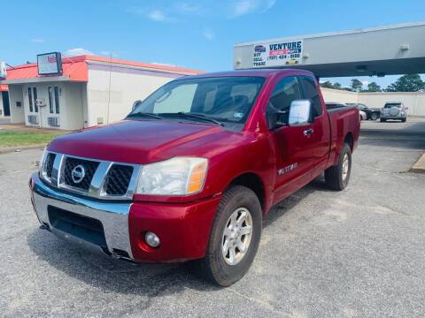 2005 Nissan Titan for sale at VENTURE MOTOR SPORTS in Virginia Beach VA
