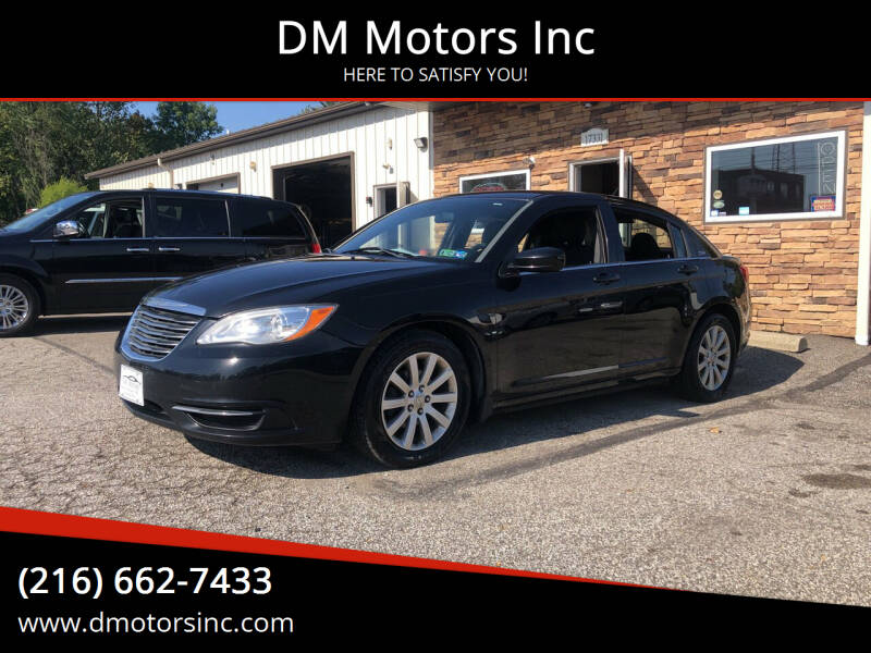2014 Chrysler 200 for sale at DM Motors Inc in Maple Heights OH