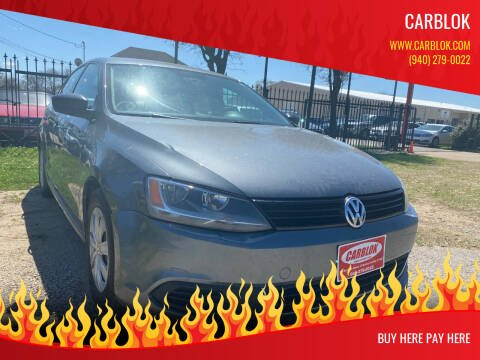 2013 Volkswagen Jetta for sale at CARBLOK in Lewisville TX