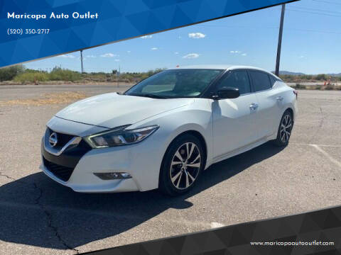 2017 Nissan Maxima for sale at Maricopa Auto Outlet in Maricopa AZ