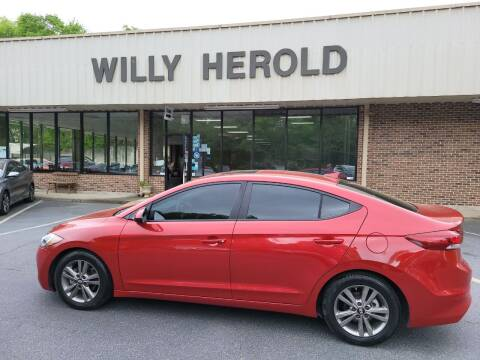 2018 Hyundai Elantra for sale at Willy Herold Automotive in Columbus GA
