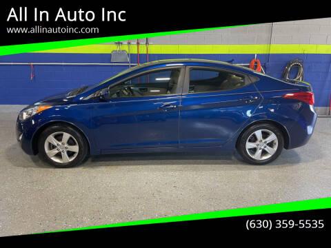 2013 Hyundai Elantra for sale at All In Auto Inc in Addison IL