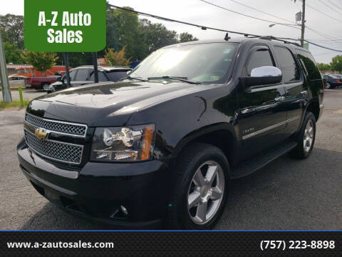 2011 Chevrolet Tahoe for sale at A-Z Auto Sales in Newport News VA