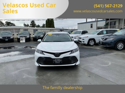 2019 Toyota Camry for sale at Velascos Used Car Sales in Hermiston OR