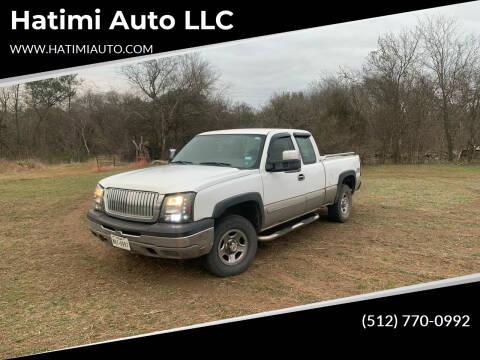 2004 Chevrolet Silverado 1500 for sale at Hatimi Auto LLC in Buda TX