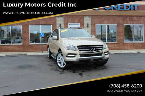 2013 Mercedes-Benz M-Class for sale at Luxury Motors Credit Inc in Bridgeview IL