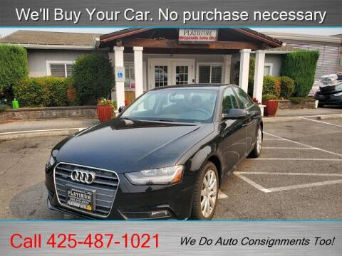 2014 Audi A4 for sale at Platinum Autos in Woodinville WA