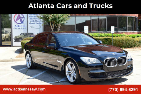 2013 BMW 7 Series for sale at Atlanta Cars and Trucks in Kennesaw GA