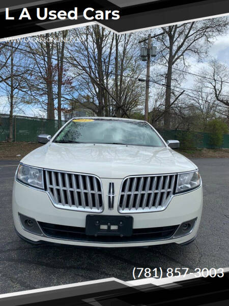 2012 Lincoln MKZ for sale at L A Used Cars in Abington MA