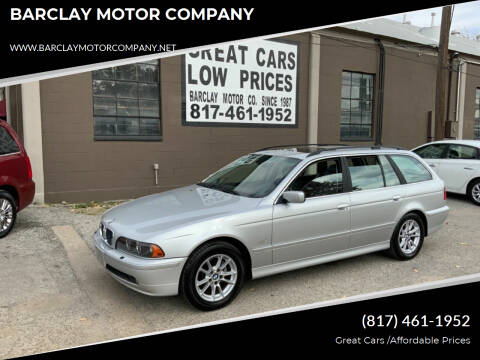 2003 BMW 5 Series for sale at BARCLAY MOTOR COMPANY in Arlington TX