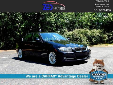 2011 BMW 3 Series for sale at Zed Motors in Raleigh NC