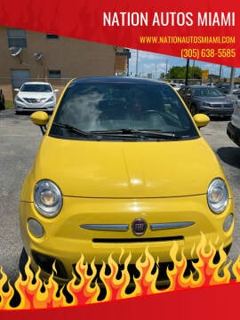 2012 FIAT 500 for sale at Nation Autos Miami in Hialeah FL