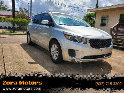 2015 Kia Sedona for sale at Zora Motors in Houston TX