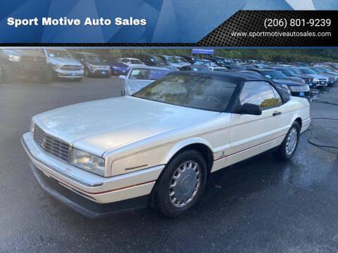 1993 Cadillac Allante for sale at Sport Motive Auto Sales in Seattle WA