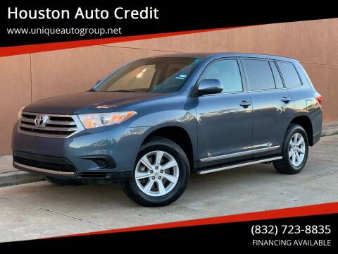 2013 Toyota Highlander for sale at Houston Auto Credit in Houston TX