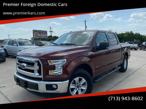2016 Ford F-150 for sale at Premier Foreign Domestic Cars in Houston TX