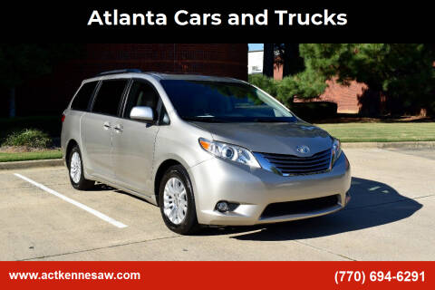 2016 Toyota Sienna for sale at Atlanta Cars and Trucks in Kennesaw GA