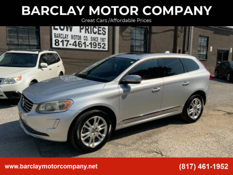 2014 Volvo XC60 for sale at BARCLAY MOTOR COMPANY in Arlington TX