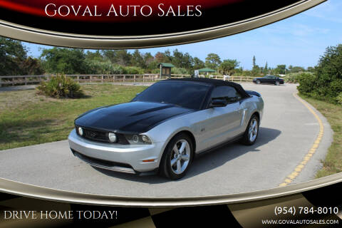 2010 Ford Mustang for sale at Goval Auto Sales in Pompano Beach FL