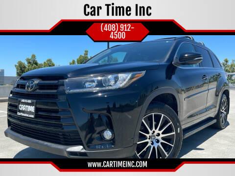 2018 Toyota Highlander for sale at Car Time Inc in San Jose CA