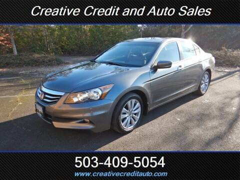 2011 Honda Accord for sale at Creative Credit & Auto Sales in Salem OR