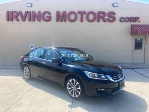 2015 Honda Accord for sale at Irving Motors Corp in San Antonio TX