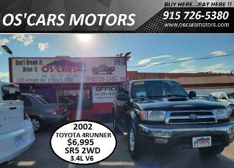 2002 Toyota 4Runner for sale at Os'Cars Motors in El Paso TX