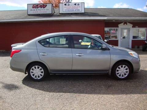2013 Nissan Versa for sale at G and G AUTO SALES in Merrill WI
