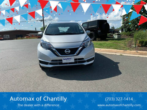2019 Nissan Versa Note for sale at Automax of Chantilly in Chantilly VA
