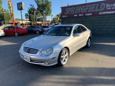 2004 Mercedes-Benz CLK for sale at SPRINGFIELD BROTHERS LLC in Fullerton CA