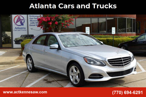 2014 Mercedes-Benz E-Class for sale at Atlanta Cars and Trucks in Kennesaw GA
