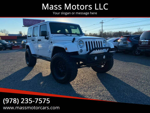 2014 Jeep Wrangler Unlimited for sale at Mass Motors LLC in Worcester MA