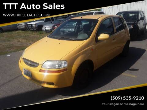 2004 Chevrolet Aveo for sale at TTT Auto Sales in Spokane WA