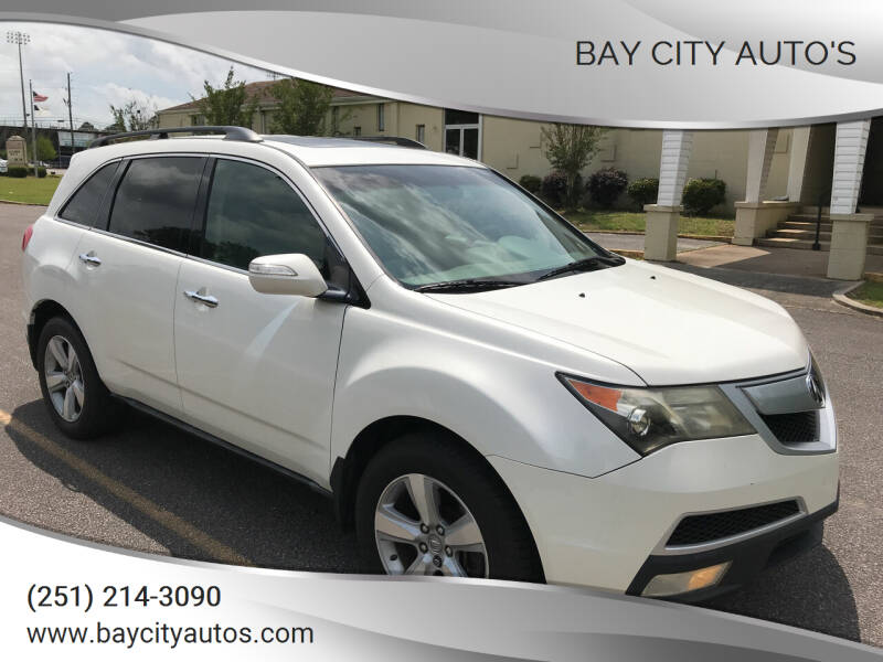 2011 Acura MDX for sale at Bay City Auto's in Mobile AL