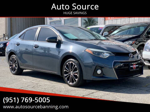 2014 Toyota Corolla for sale at Auto Source in Banning CA